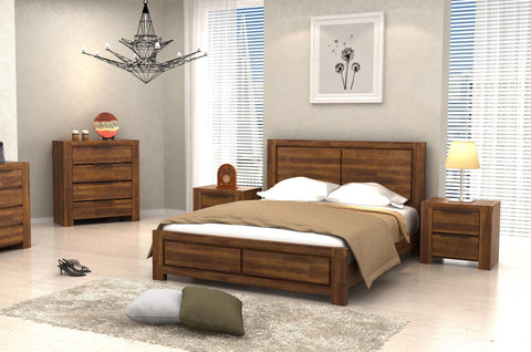 Bedroom Set A comes with Wardrobe, Bed, Dresser, Side table - Cartbibi