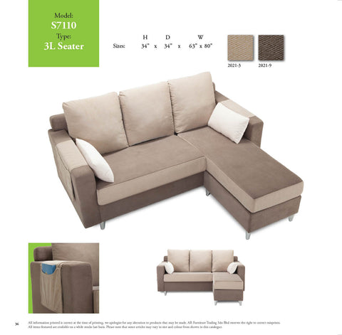 AR Sofa 3 SEATER + STOOL SOFA SET - Cartbibi