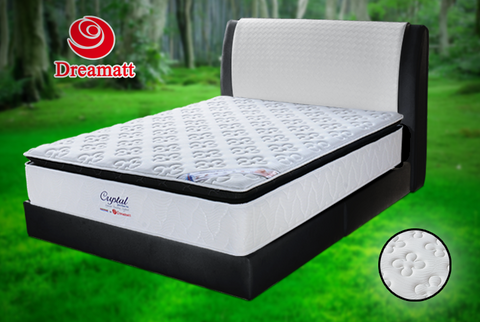 Dr.Crystal (King) (Queen) 10 Inch Chiropractic Mattress Include 4 Inch 360º Degree Air Ventilation Plus-Top - Cartbibi