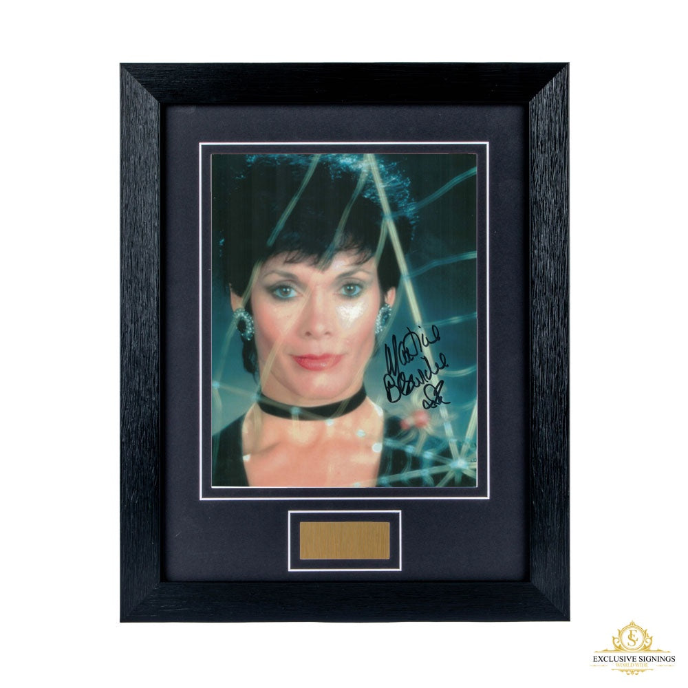 Martine Beswick Signed Framed Photo