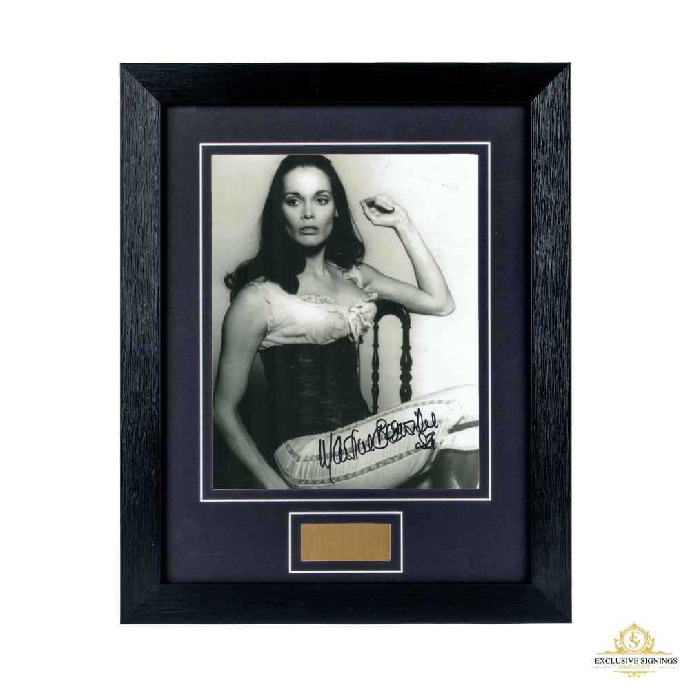 Martine Beswick Signed Framed Photo 2