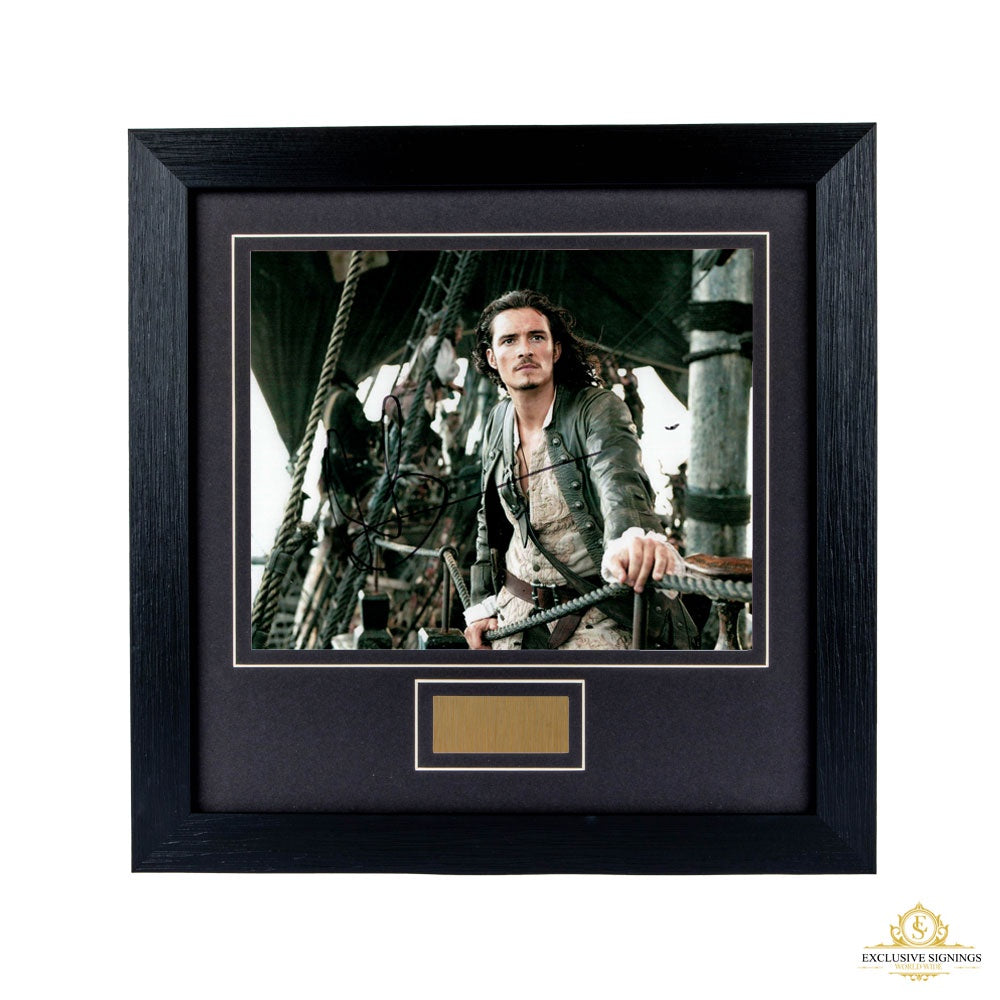 Orlando Bloom Pirates Of The Caribbean Signed Framed Photo