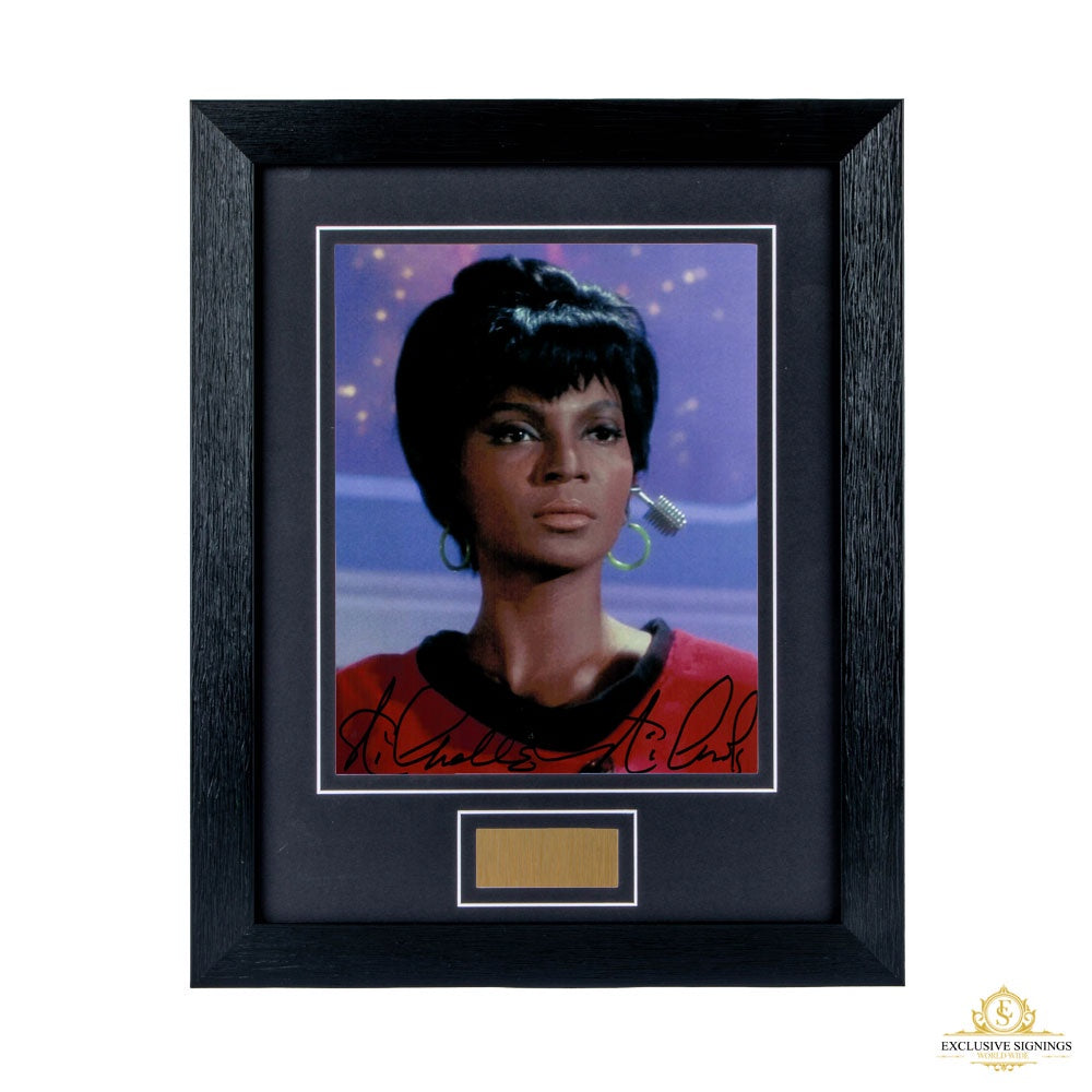 Nichelle Nichols Star Trek Signed Framed Photo 1