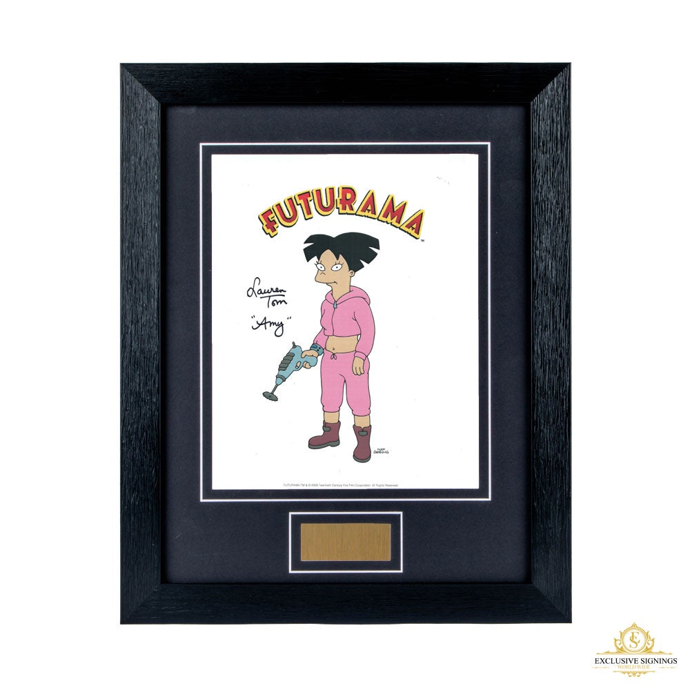 Lauren Tom Futurama Signed Framed Photo 2