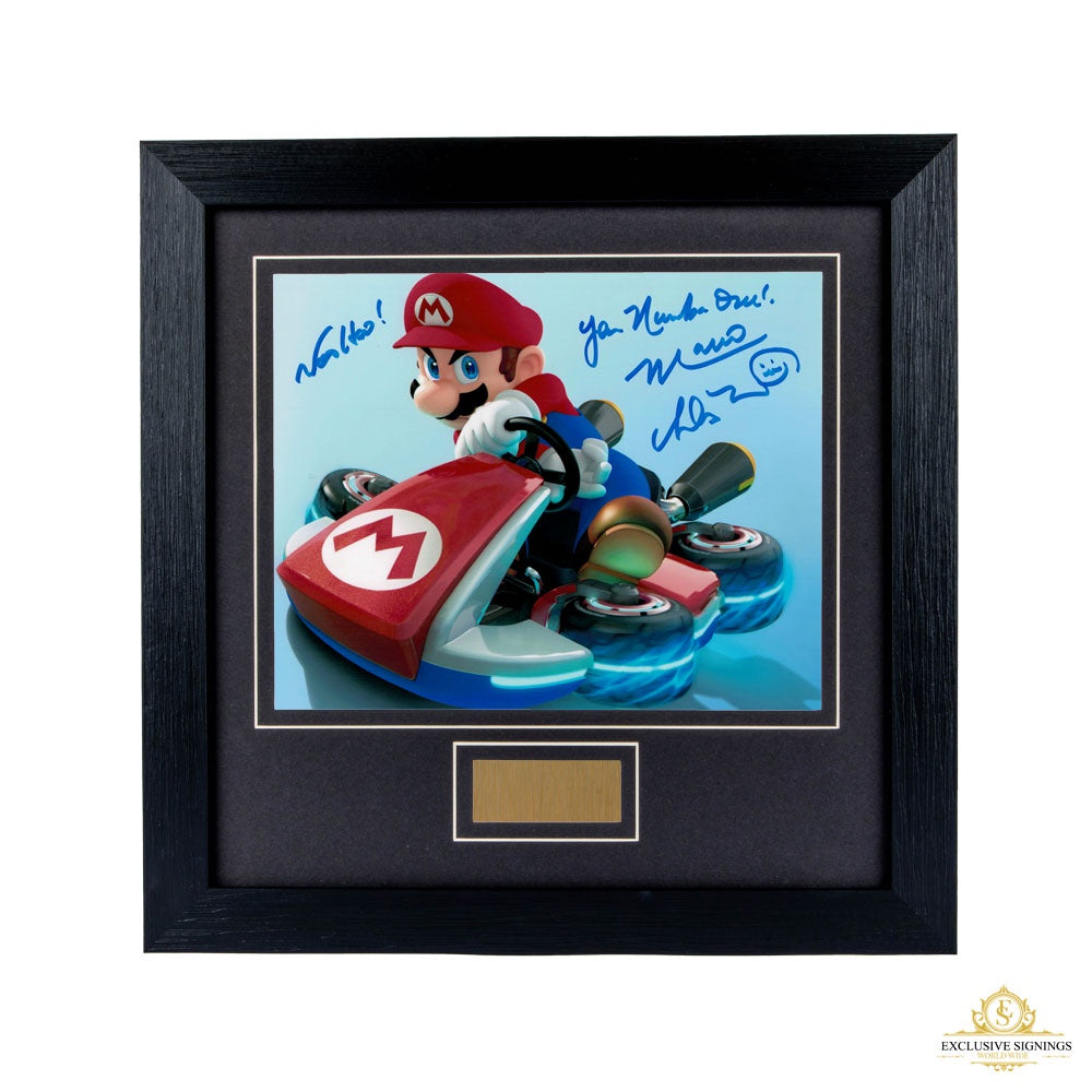 Charles Martinet Super Mario Brothers Signed Framed Print