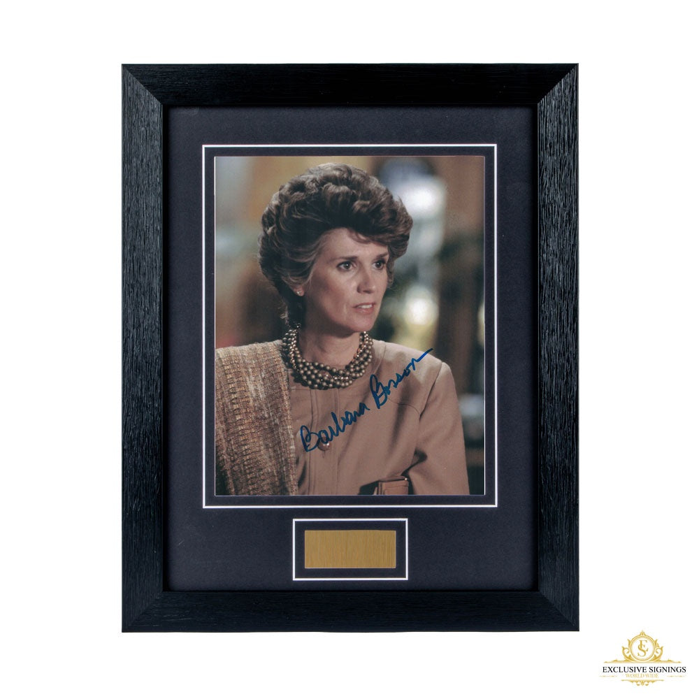 Barbara Bosson Signed Framed Photo