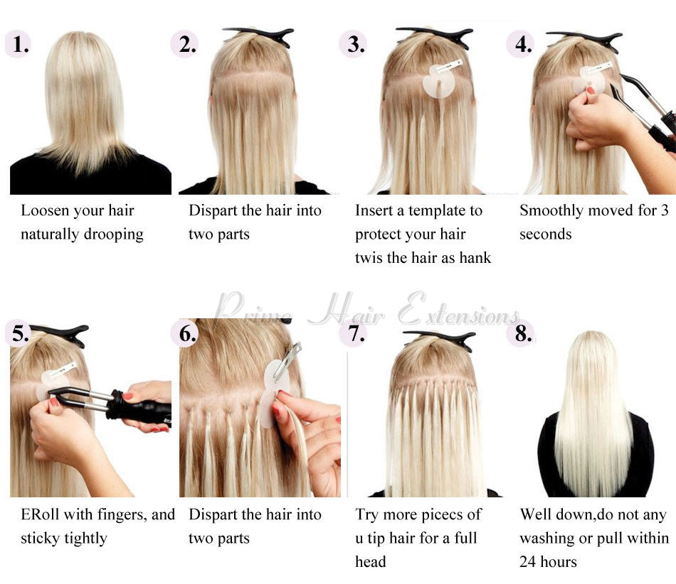 how to apply with your u tip hair extensions