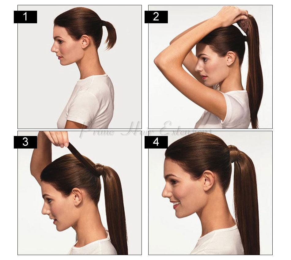 how to apply with your ponytail human hair