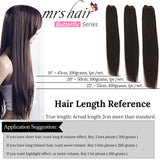MRSHAIR Butterfly Series Silky Straight Human Hair Weaves Blonde Black Brown 100g