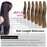 MRSHAIR Butterfly Series Piano Tape In Human Hair Extensions Seamless Adhesives 20pcs