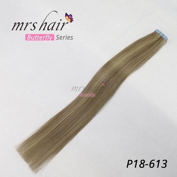 MRSHAIR Tape In Hair Extension MRSHAIR Butterfly Series Piano Color Tape In Hair On Adhesives Double Sided Tape Hair