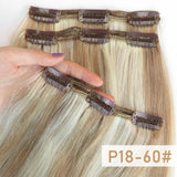 "Clip In Human Hair Extensions 3pcs/Set Double Weft 16""18""20"""