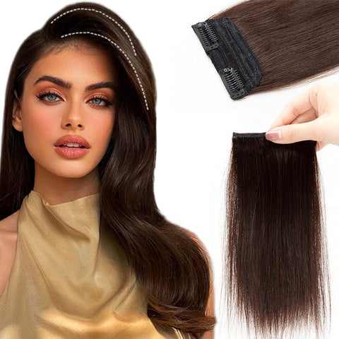 Mrshair Straight Patch Hair Pieces Clip in 100% Human Hair Secret Top/Side Root Hair Hairpiece
