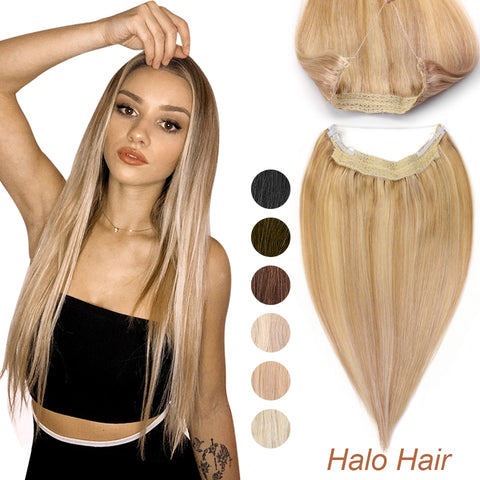 MRSHAIR Halo Hair Extension Fish Line 14 18 22 inch