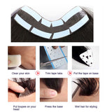 1.5x15cm Men Hairline Toupee V Loop Brazilian Virgin Remy Hair Toupee