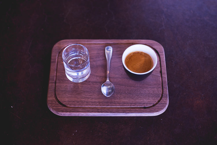 Espresso Served on a Tray?