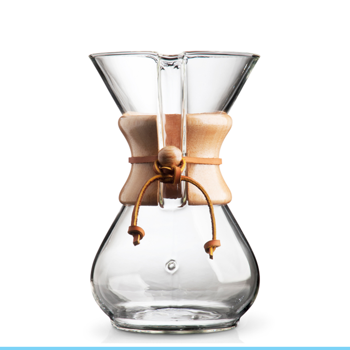 CHEMEX Pour-Over Glass Coffeemaker - Classic Series - 6-Cup