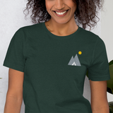 Mountain Campsite Embroidered Unisex T-Shirt