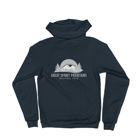 Great Smoky Mountains National Park Unisex Zip Up Hoodie