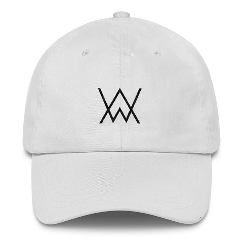 Monogram Dad Hat Black Stitch