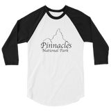 Pinnacles National Park 3/4 Sleeve Unisex Raglan