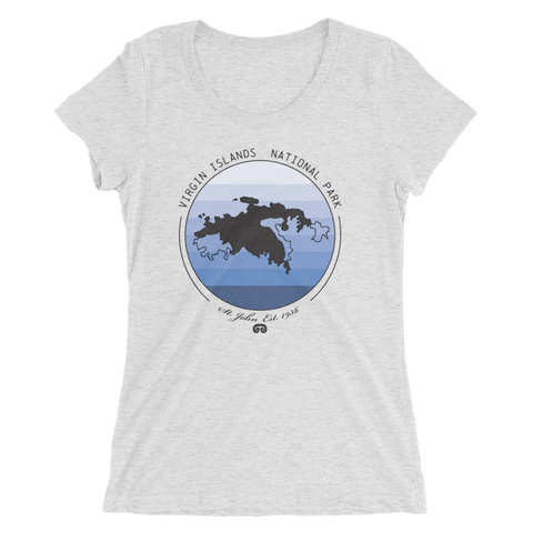 Virgin Islands Ladies' Triblend T-Shirt