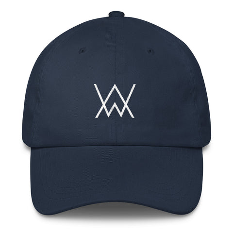 Monogram Dad Hat White Stitch
