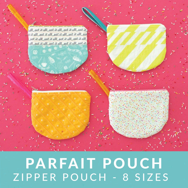 Parfait Pouch zipper bag sewing pattern from MADE Everyday