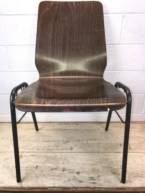 Vintage industrial Dutch school chairs  #1399
