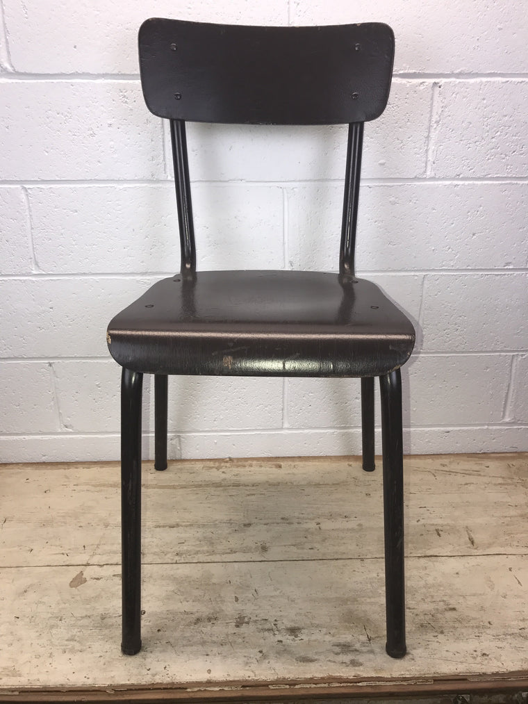 Vintage industrial Dutch school chairs  #1402