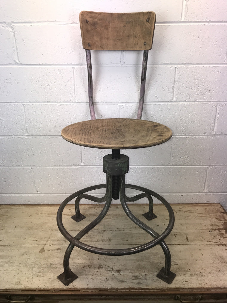 Vintage industrial European Atelier chair #1414