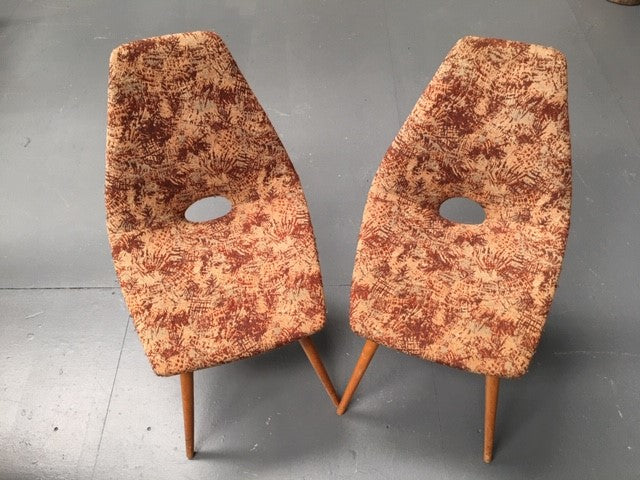 Vintage Czech Cocktail Chair  sold as a set #B142 Byron