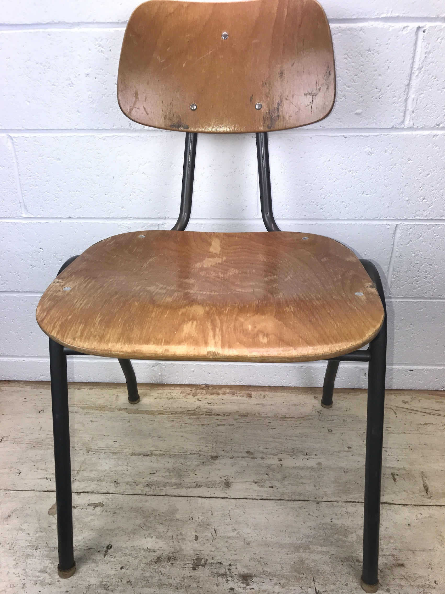 Vintage industrial Dutch school chairs  #1435