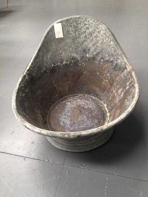 Vintage 1940s Galvanized Kids Bath Tub #B1445Byron