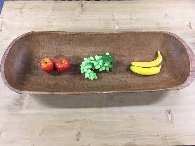 Vintage European Wooden Flat Dough Bowl  #B149  Byron