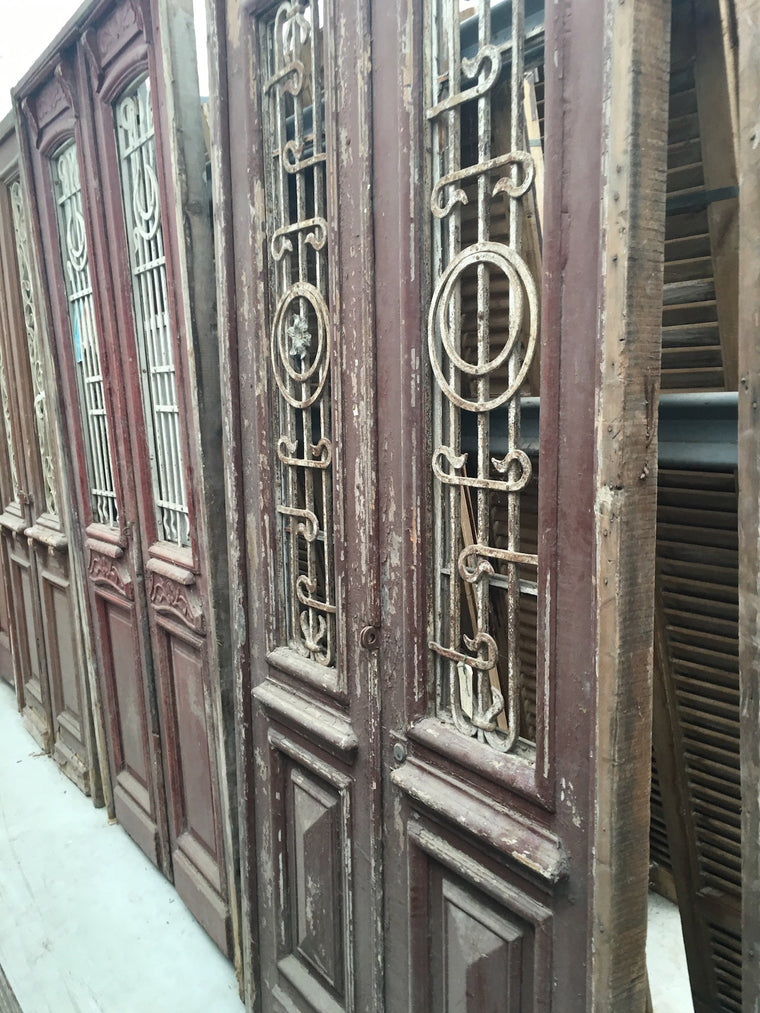 Vintage industrial Egyptian door #1526