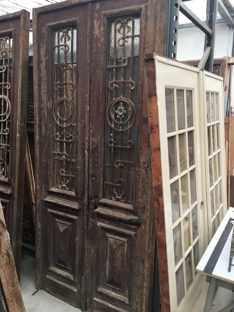 Vintage industrial Egyptian huge door #1528