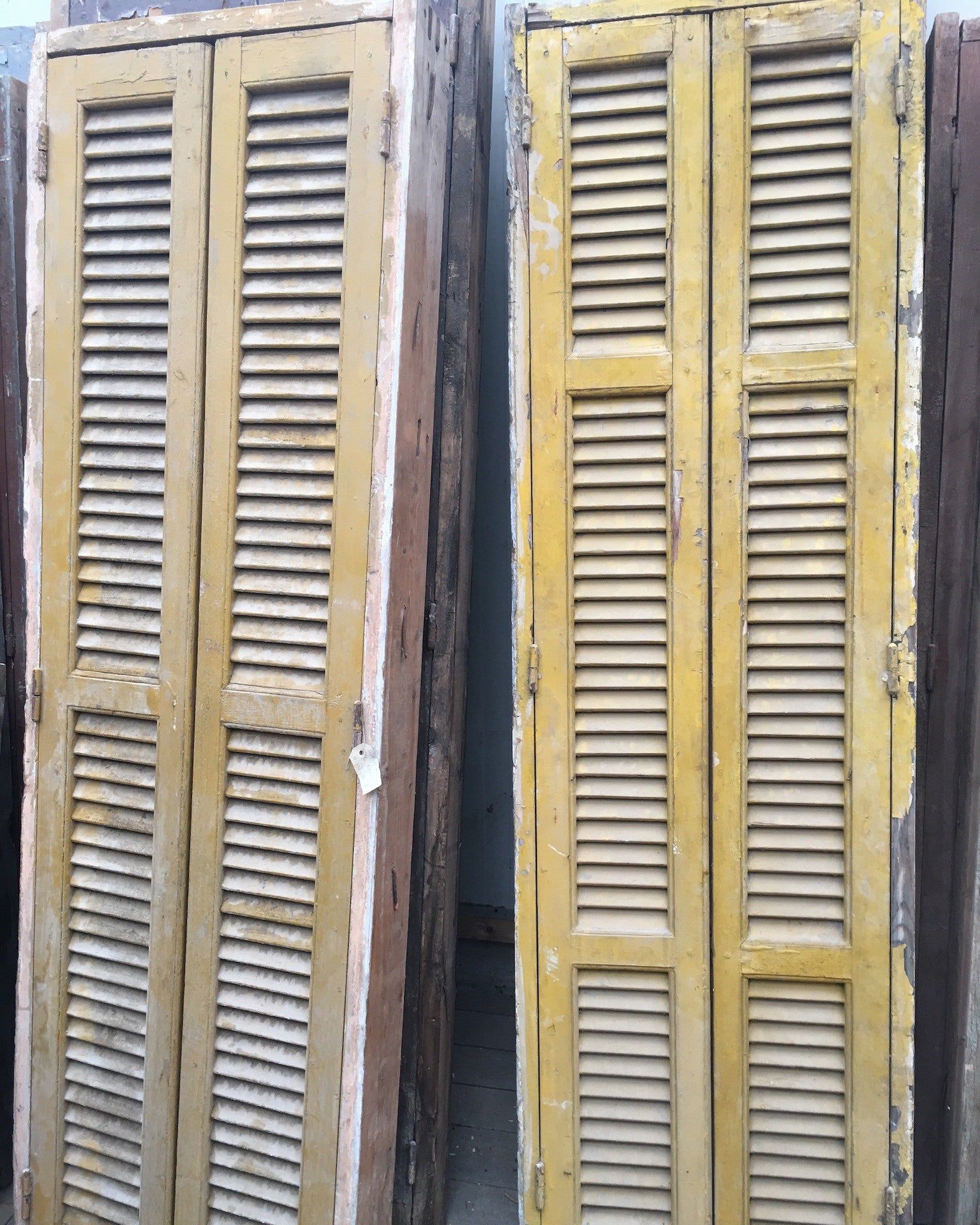 Vintage industrial window shutters and window #1532
