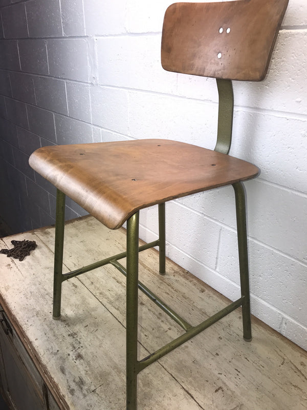Vintage industrial Ukraine machinist chair #1607
