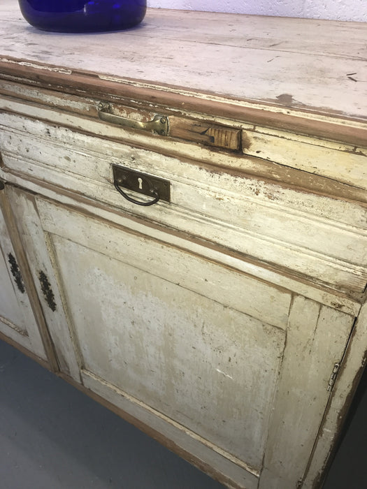 Vintage industrial European wooden kitchen cabinet #1653