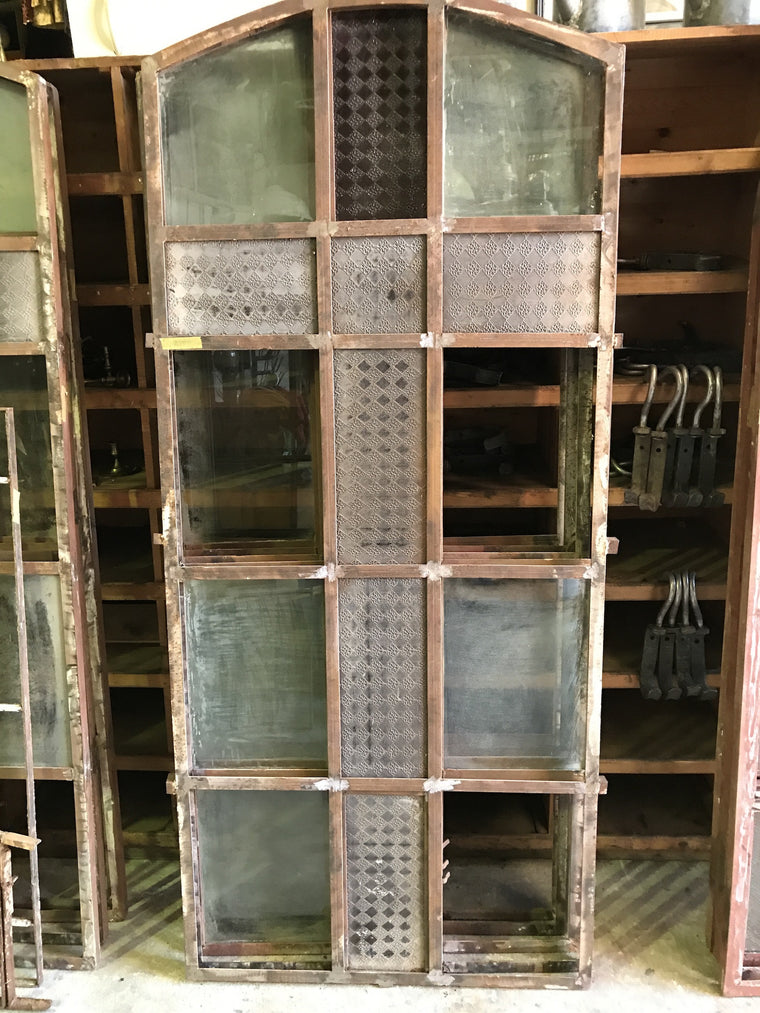 Vintage industrial European iron church windows #1673