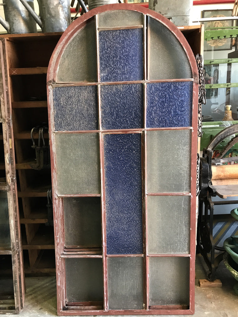 Vintage industrial European iron church windows #1677