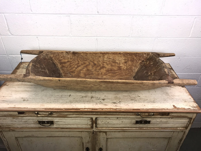 Vintage industrial Turkish wooden dough bowl #1787b