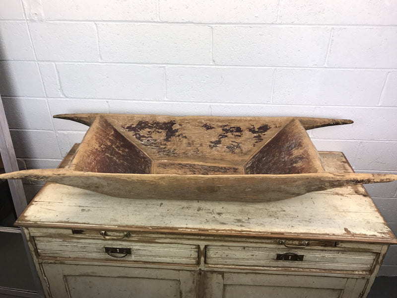 Vintage industrial Turkish wooden dough bowl #1788c