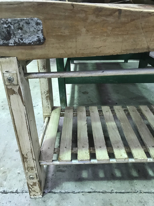 Vintage industrial European butchers block #1793 long
