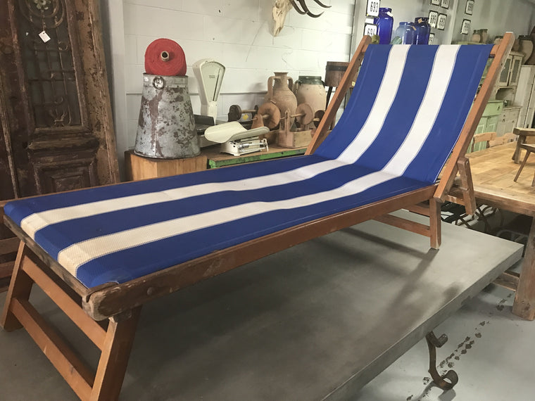 Vintage French beach chair  #1835