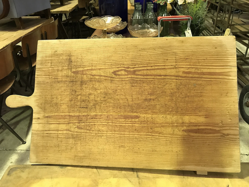 vintage industrial French breadboard cutting board #1857