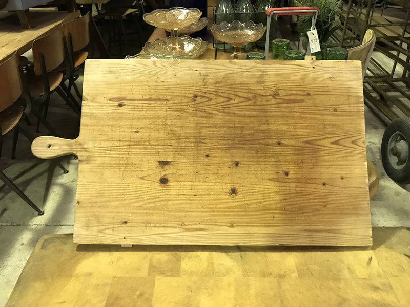 vintage industrial French breadboard cutting board #1858