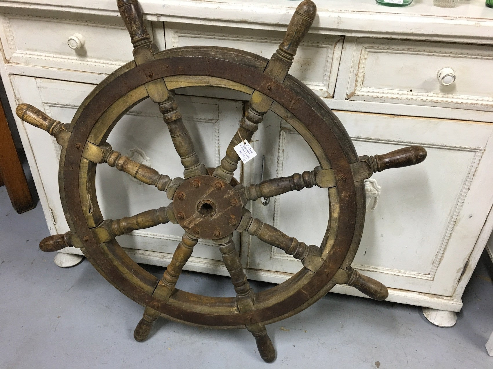 vintage industrial Japanese ships wheel original  #1900