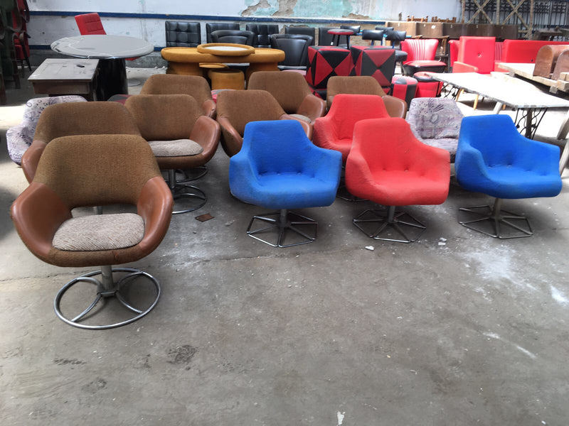 Vintage RETRO 60s mid century lounge chairs  #1911